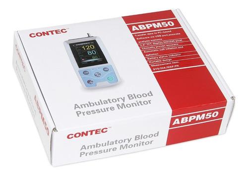 monitor ambulatorio de presión arterial con 3 puños 24 hora