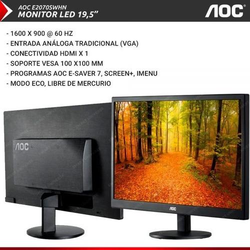 monitor aoc 20''  led con conectividad hdmi
