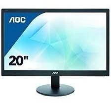 """Black E2070SWHN AOC 20/"""" HD LED Monitor VGA and HDMI"""