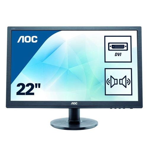 monitor aoc full hd 21,5 e2275swj vga/dvi/hdmi (sumcomcr)