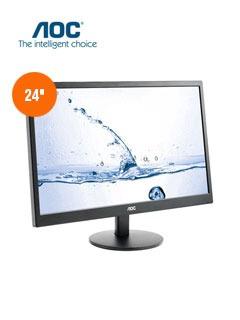 monitor aoc m2470swh, 24  led, 1920x1080, hdmi / vga.
