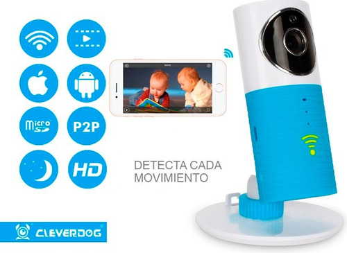 monitor bebe camara wifi hd detección movimiento cleverdog