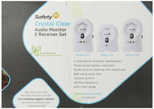 monitor bebes crystal clear safety 1st blanco