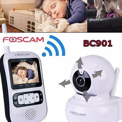 monitor bebes foscam  color audio robotica bc901