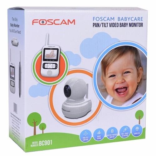 monitor bebes foscam  color audio robotica bc901 inalambrica