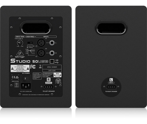 monitor behringer studio 50usb 5 pulgadas par 100w tv