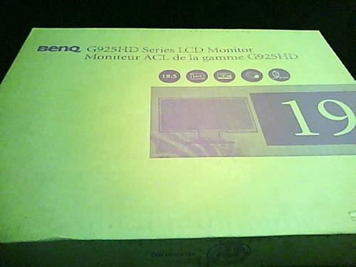 monitor benq g925hd series lcd nuevo en caja