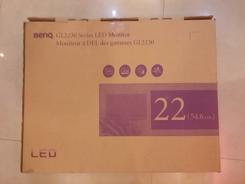monitor benq led 22 pulgadas (54.6 cm)