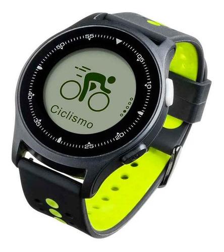 monitor cardíaco sportwatch chronus + gps à prova d água pre