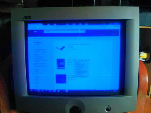 monitor convencional aoc  17 pulgadas