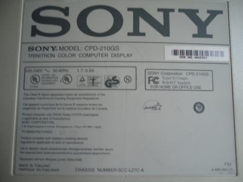 monitor crt sony multiscan