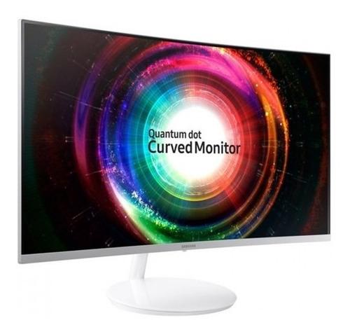 monitor curvo pc quantum dot 27 pul blanco samsung