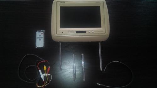 monitor danon lcd posa-cabezas de carro 9'' rma da90001g