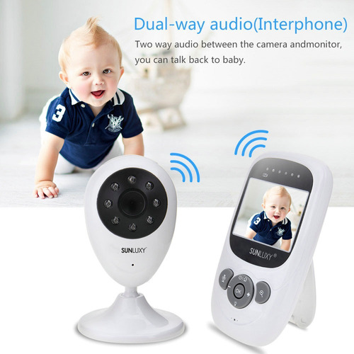 monitor de bebe bidireccional de visión nocturna detección