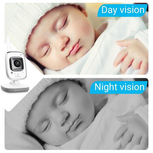 monitor de bebé gd8220 digital inalámbrico c/visión nocturna