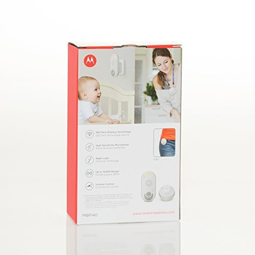 monitor de bebé portátil usable motorola mbp140