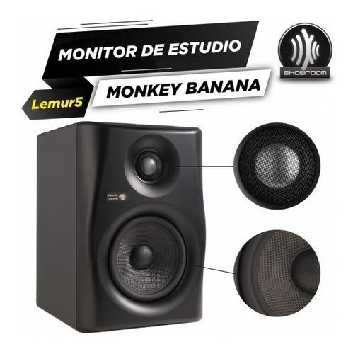 monitor de estudio activo monkey banana lemur 5 2 vias 80w