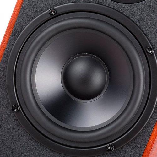 monitor de estúdio edifier r1900tv madeira 120w rms - par