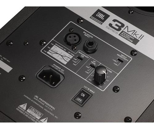 monitor de referência estúdio jbl 306p mkii ativo unidade