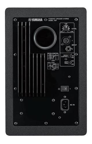 monitor de referência yamaha hs7 par + suporte chão stagg
