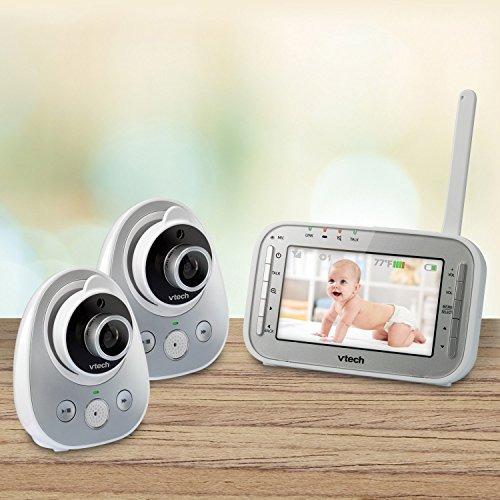 monitor de vtech vm342-2 segura y ampliable de sonido de vi