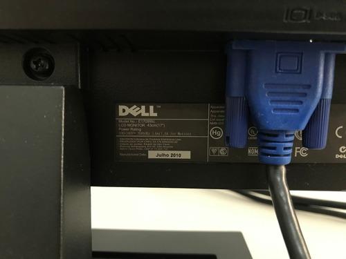 monitor dell lcd widescreen 17 polegadas e1709wc funcionando