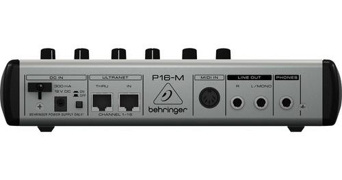 monitor digital 16 ch p/ fone inear powerplay p16m behringer