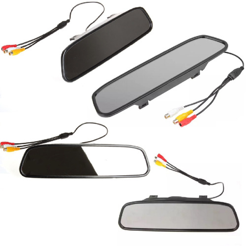 monitor espejo retrovisor + camara reversa c/vision nocturna