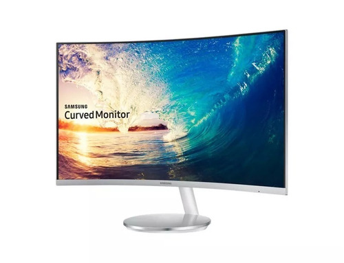 monitor gamer 27 samsung curvo blanco full hd 4ms freesync