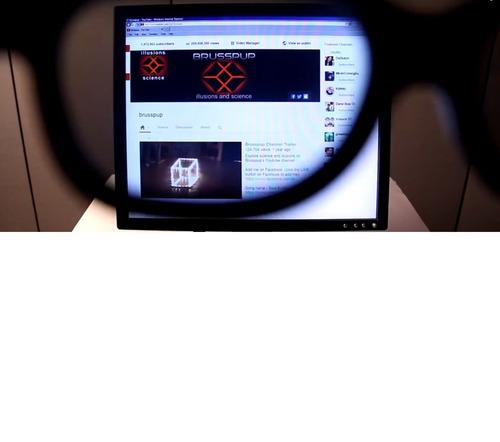 monitor hacker tela 17  + óculos especial