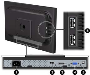 monitor lcd 22 wide hp comp la2205wg