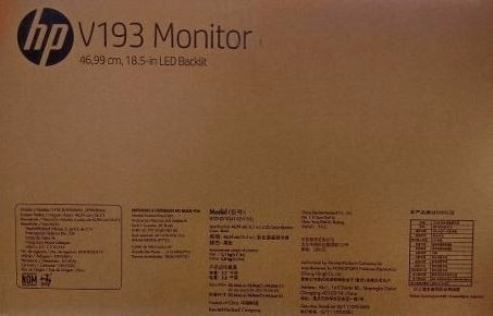 monitor led 18.5  hp v194 hd 60hz 5ms * envio gratis