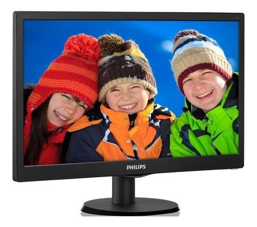 monitor led 18.5 philips 193v5lhsb2 widescreen preto