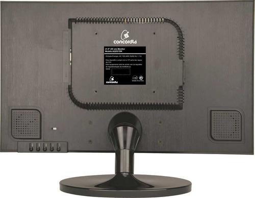 monitor led 21.5 c/ vga/hdmi full hd - concórdia