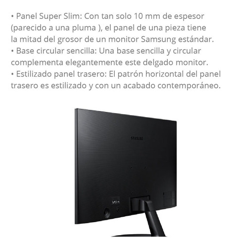 monitor led 22 samsung f350 full hd hdmi gtia oficial pce