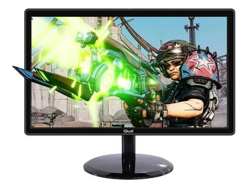 monitor led 24 pulgadas iqual iq24h 1080p hdmi full hd gtia