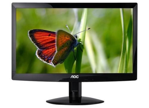 monitor led aoc de 16 ideal punto de venta oficinas por usb
