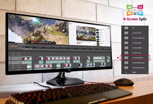 monitor led ips lg 25um58 25' 5ms hdmi diseño fotografia