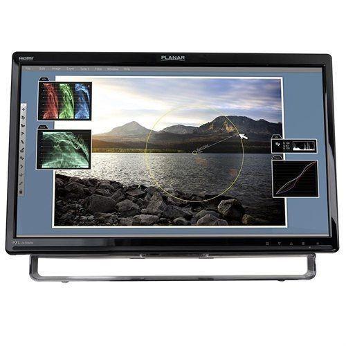 monitor led touchscreen importado planar pxl2430mw 24