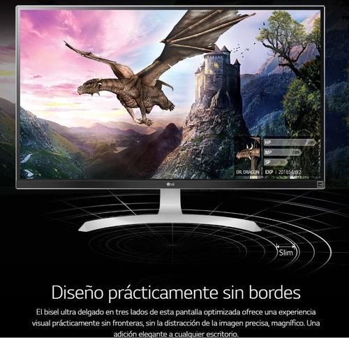 monitor lg 27ud69 27' led ips wide freesync 4k 5ms 10 bits