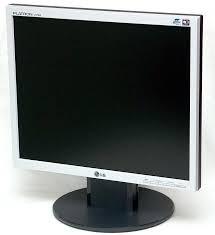 monitor lg l1750s 17' polegadas lcd quadrado saída dvi/usb