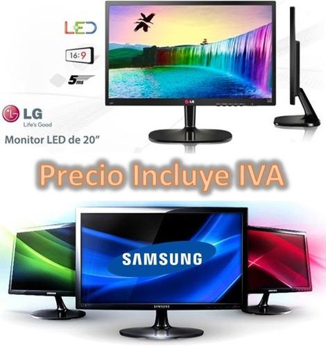 monitor lg / samsung led 20¿ ultraslim oferta nuevos