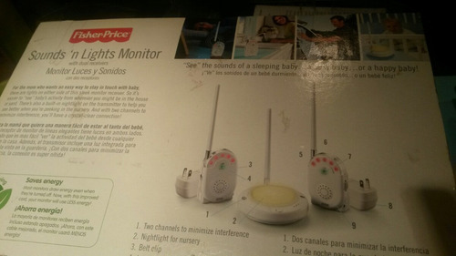 monitor luces y sonidos con 2 receptores marca fisher-price
