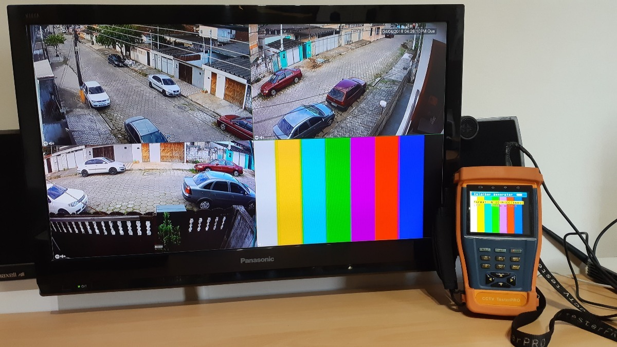 Circuito Fechado De Tv : Monitor para teste de cftv circuito fechado c meras r