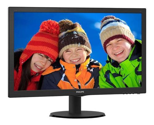 monitor philips 223v5lhsb2 lcd 21.5  negro 110v/220v