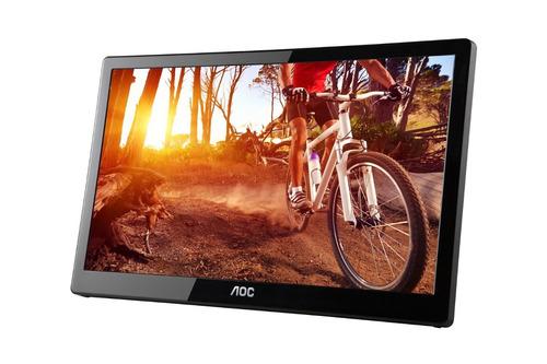 monitor portátil aoc e1659fwu 16-inch ultra slim 1366x768