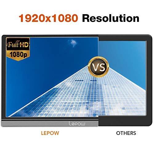 monitor portátil - lepow 15,6 pulgadas pantalla de la comp