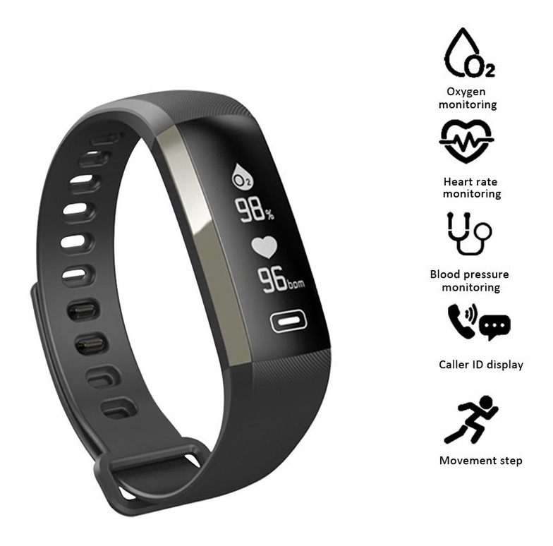 103016af44fb Monitor Reloj Pulsera Ritmo Cardiaco Presión Arterial Oxigen