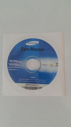 monitor samsung  lcd de 16 pulgadas syncmaster 632 nw