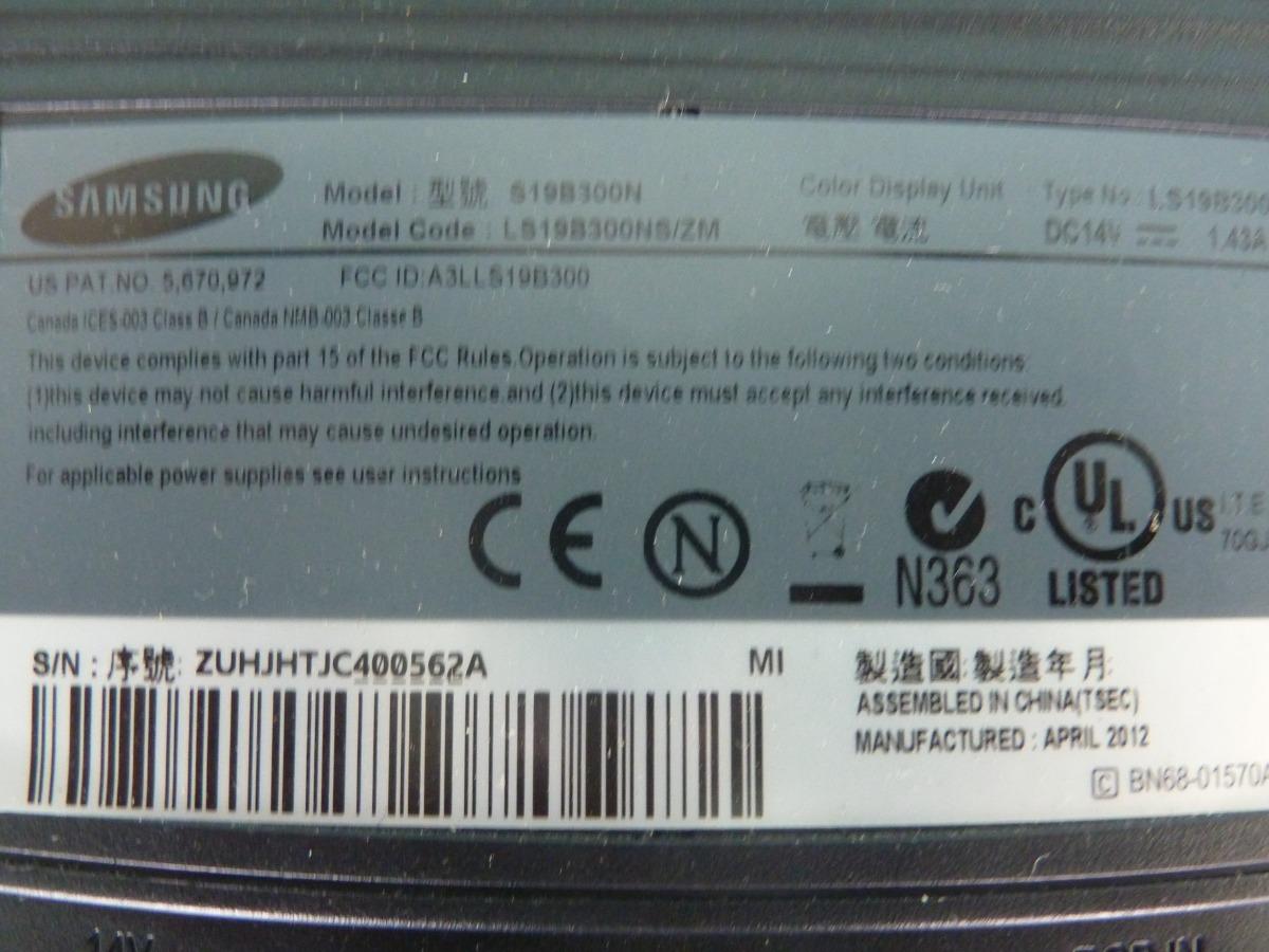 Monitor Samsung Led De 19 Pulgadas - Bs  60 000,00